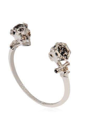 cuff skull cuff bracelet silver jewels