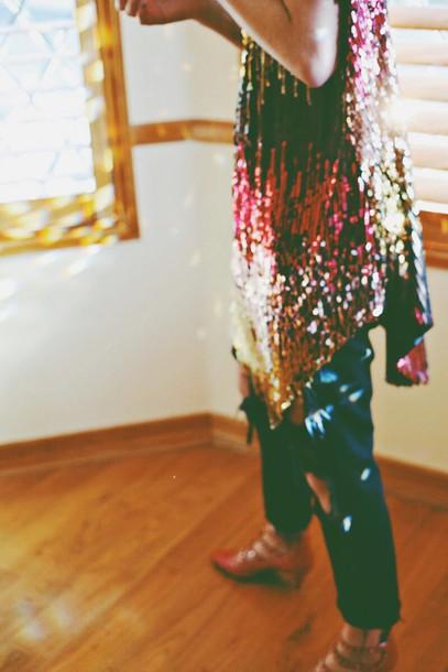color me nana blogger jeans glitter hat shoes jewels