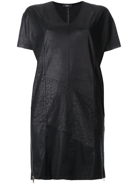 Diesel dress short dress short women spandex v neck black