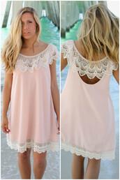 dress,lace,amazinglace,amazinglace.com,shift dress,blush,pink,summer,beach