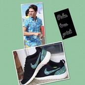 shoes,nike,custom nikes,nike roshe run,customized roshe run,customized,floral roshe run,palm tree,tropical,floral nike roshe