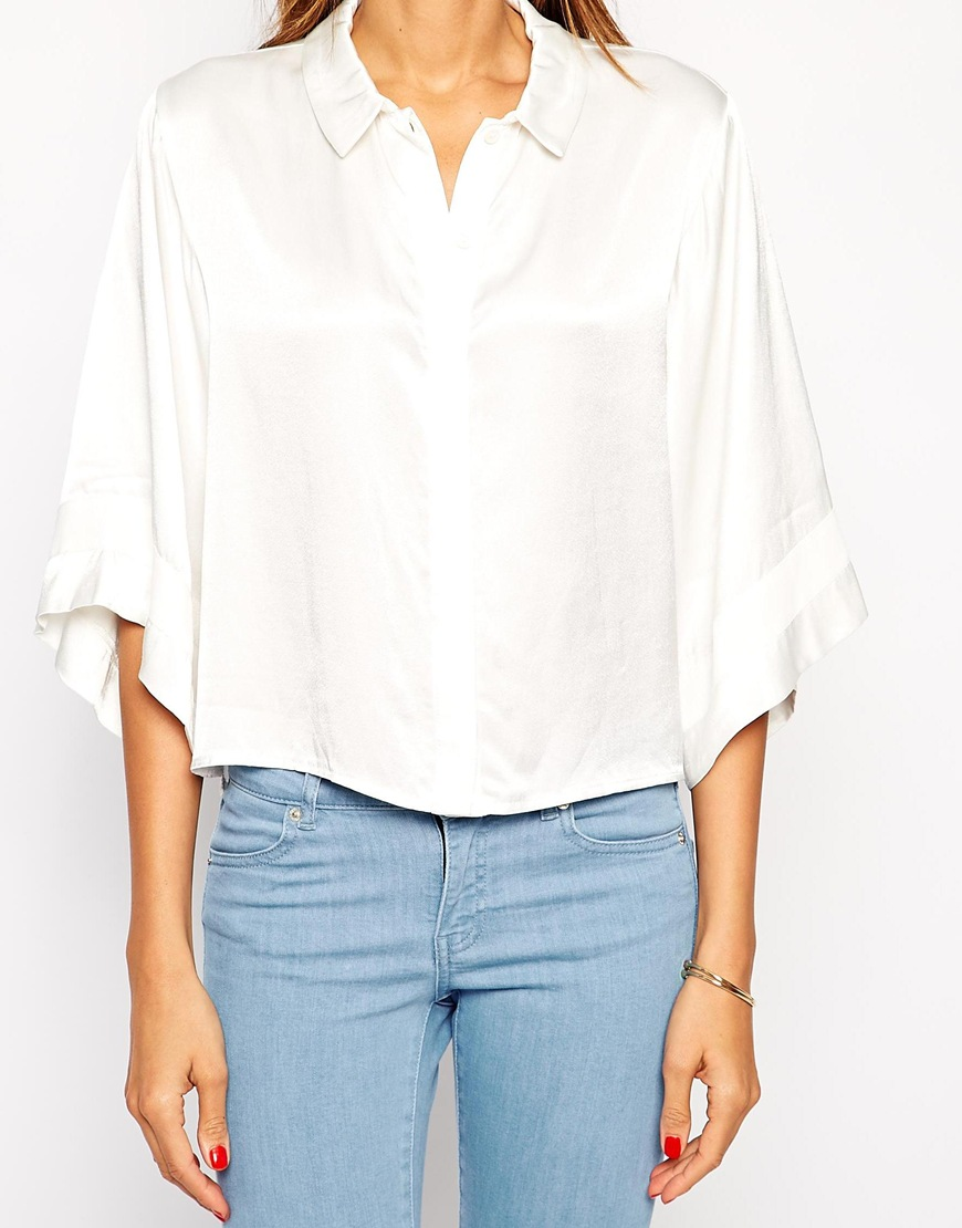 TFNC Relaxed Shirt With Kimono Sleeve at asos.com