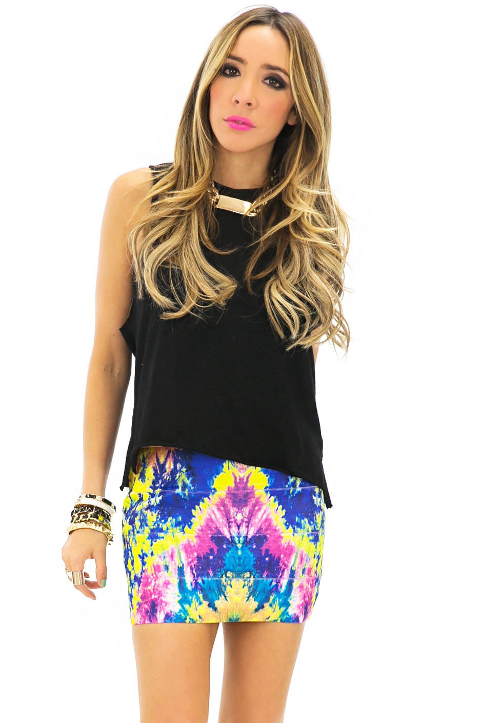 WATERCOLOR BANDED SKIRT | Haute & Rebellious