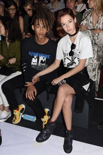 sweater sweatshirt menswear mens shoes mens sweater jaden smith ny fashion week 2016 sarah snyder
