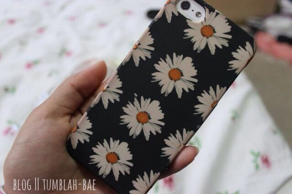 bag daisy iphone case jewels daisy black yellow white flowers iphone case
