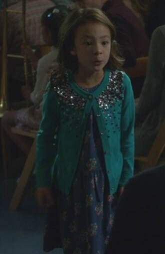 dress lily tucker-pritchett aubrey anderson-emmons modern family floral embellished cardigan sequin