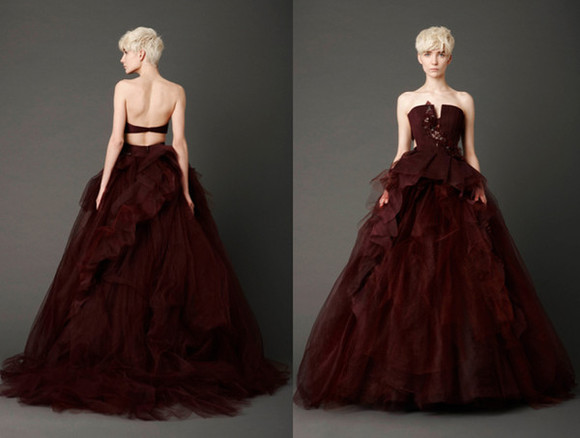 dress cut-out red dress dark red blood red burgandy wine maroon crimson wedding dress red wedding dress
