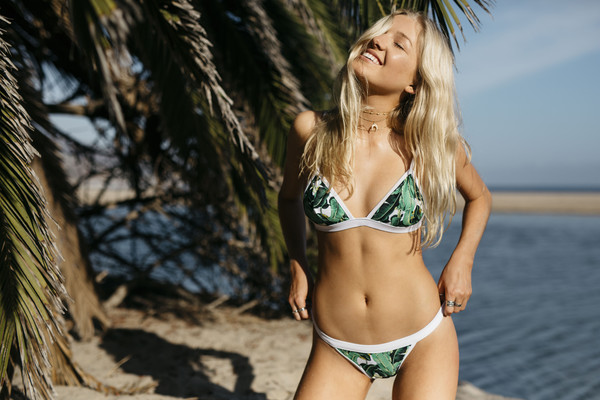 swimwear tropical bikini bikini bottoms green tropical bikini mosmann