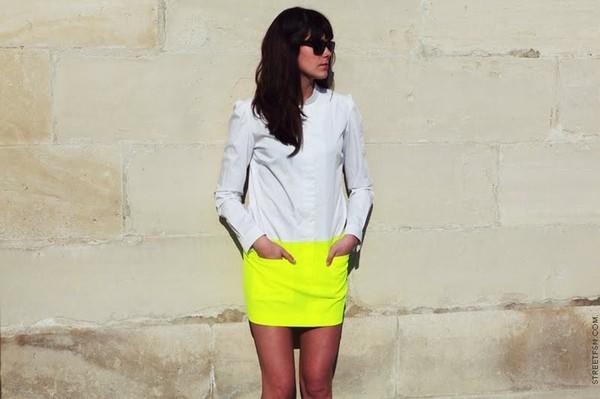 skirt neon skirt neon yellow skirt summer skirts icifashion ici fashion neon yellow