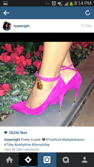 sea of shoes shoes high heels tom ford fashion 2014 fashion trends pumps pink pumps cute high heels blackbarbie sexy heels style strappy heels gold tom ford heels toya wright instagram fashion instafashion