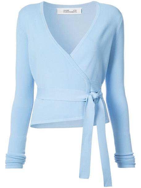 top wrap top ballet women blue