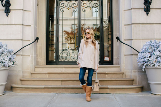 katie's bliss - a personal style blog based in nyc blogger shoes jeans bag jewels winter outfits winter boots sweater