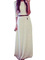Graceful white boat neck 3/4 sleeve maxi lace dress for party