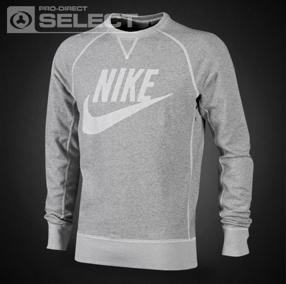 Nike Clothing Mens - Nike Vintage Marl Logo Crew Sweater - Nike ... ef92484a6