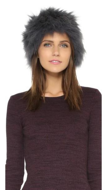 Jocelyn fur hat grey