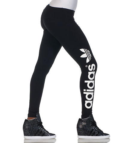 TREFOIL LEGGINGS - Black - adidas