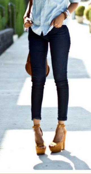 Jeans: high waisted jeans, skinny jeans, dark, slim, tight ...