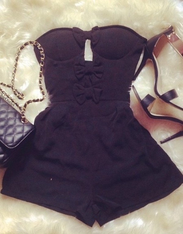 shorts romper bag shoes