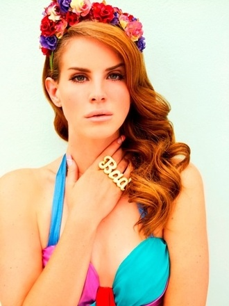 hat flowers lana del rey h&m headband floral headband pink floral hair accessory jewels