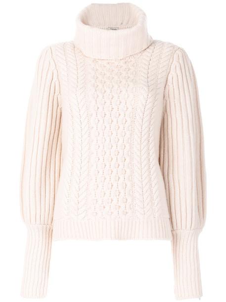 Temperley London - shade knit jumper - women - Merino - L, Nude/Neutrals, Merino