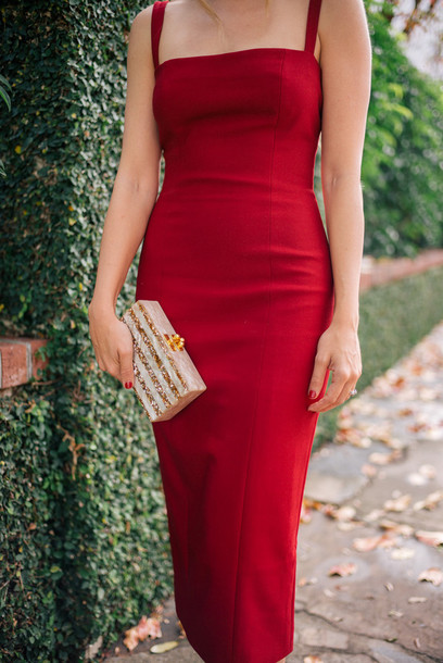 dress tumblr red dress bodycon dress bodycon mini dress christmas christmas dress holiday dress holiday season metallic clutch clutch gold red - Red Dress For Christmas