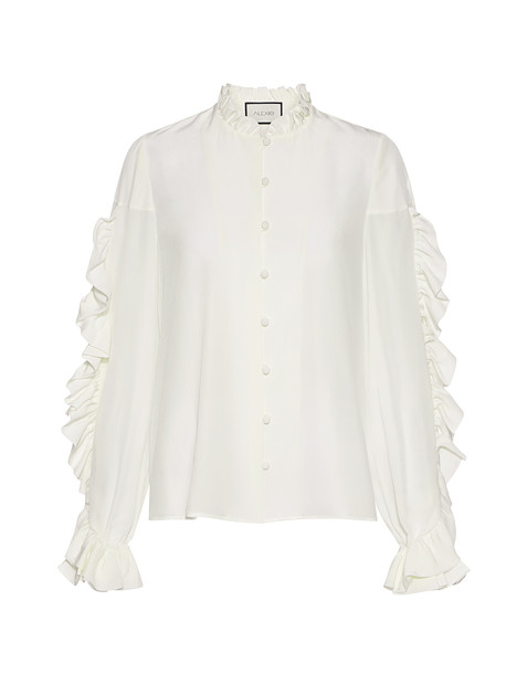 Alexis blouse white silk top