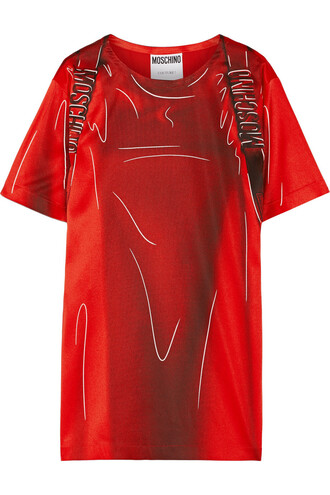 dress shirt dress t-shirt dress satin red