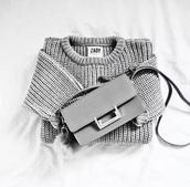 bag,grey bag,shoulder bag