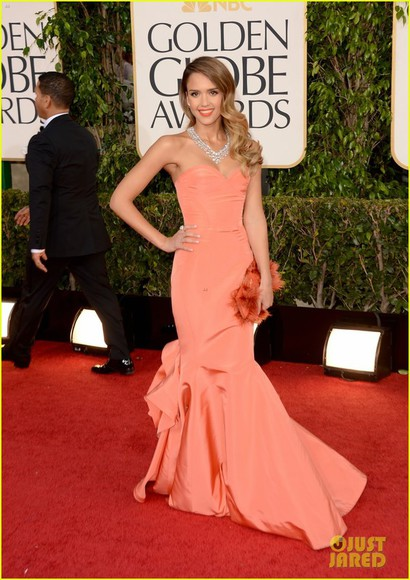 dress jessica alba OSCAR DE LA RENTA DRESS