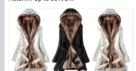 faux fur coat fourrure jacket black white