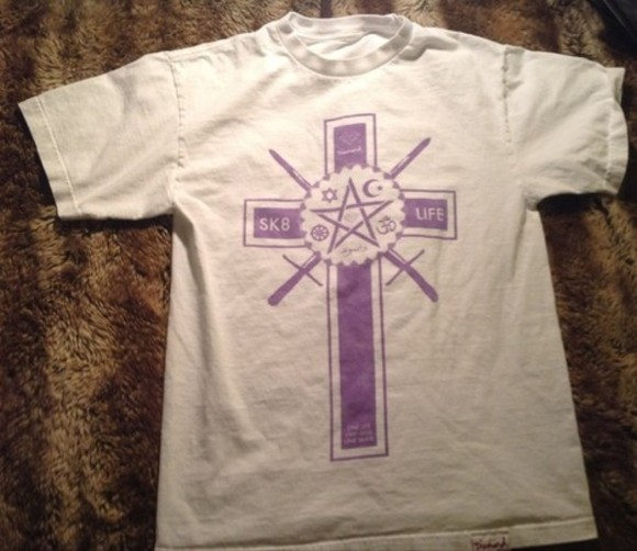 religion shirt cross diamond supply co. skateboarding pentagram