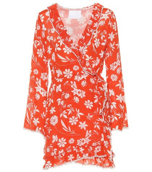 Athena Procopiou Farah silk minidress in red