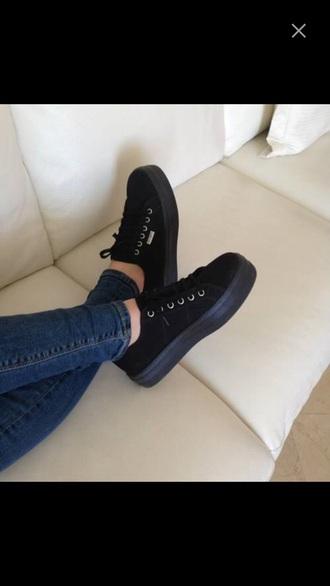 shoes sneakers platform shoes velvet black