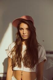 hat,baseball cap,baseball,cap,worn,cotton,jewels,pink baseball hat