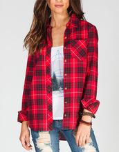t-shirt,shirt,plaid,tillys,flannel shirt,plaid skirt,red flannel,top