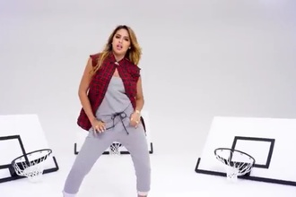 flannel shirt flannel top jasmine villegas grey sweatpants that's me right there vevo music