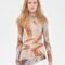 Turtleneck dress in light printed stretch jersey | céline