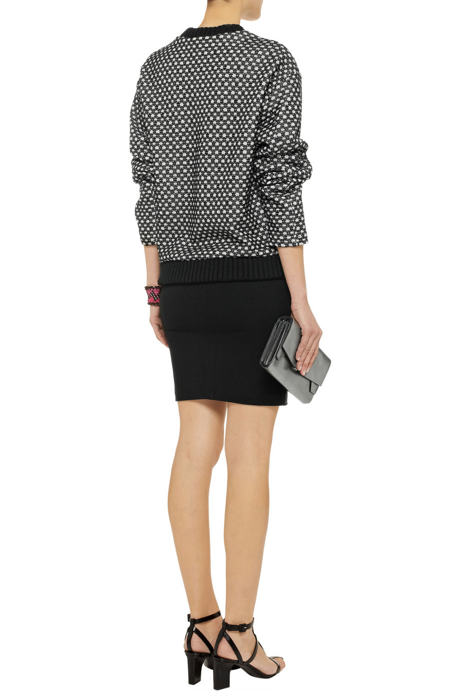 Derek Lam Lace-covered wool sweater – 60% at THE OUTNET.COM
