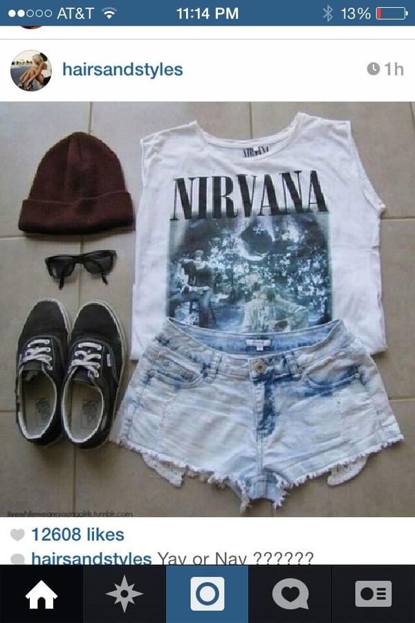 t-shirt girly grunge nirvana 90s style