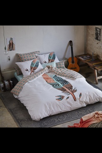 home accessory bedding bedroom hipster feathers