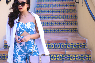 ktr style blogger top jacket bag jumpsuit tailoring summer outfits