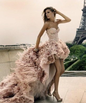 dress pink fashion style wedding dress