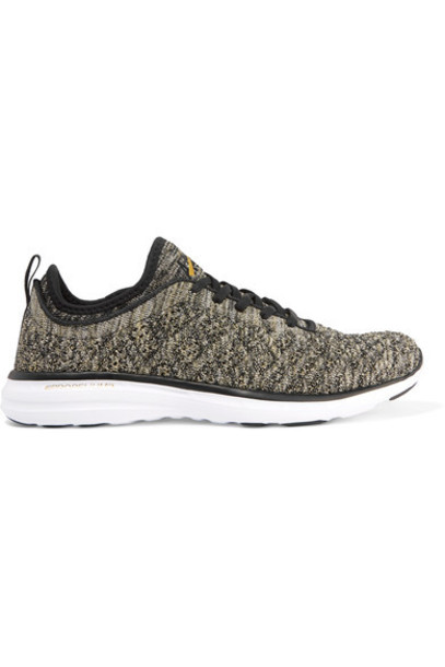 APL Athletic Propulsion Labs metallic mesh sneakers black shoes