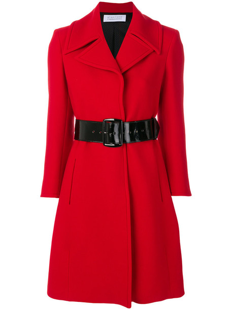 GIANLUCA CAPANNOLO coat women classic spandex wool red