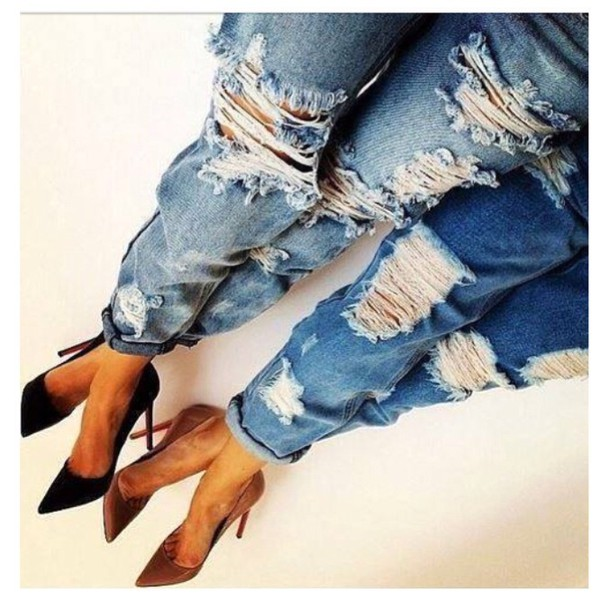 jeans denim ripped jeans boyfriend jeans ripped jeans