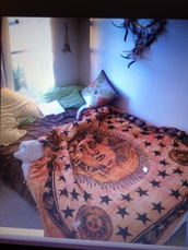 bag,bedding,indie,hippie,blanket,sun,cool,orange,tapestr,celestial,tapestry
