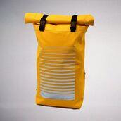 bag,kossmoss,yellow,yellow backpack,womens backpack,women backpack,waterproof bags,outdoor waterproof bags,rolltop backpack,rolltop bag