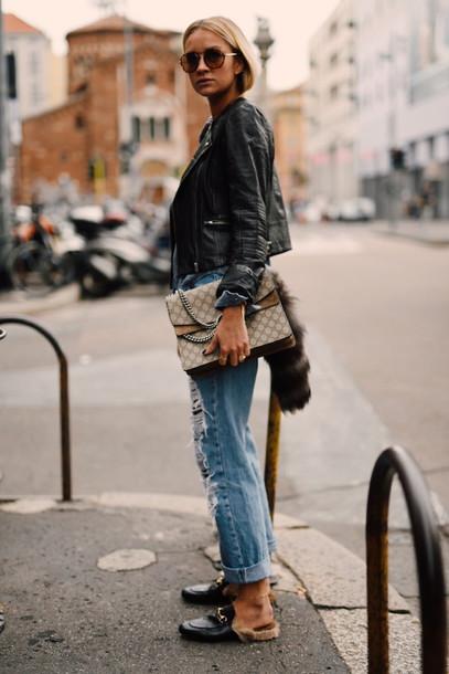 3aef6f5e1c9 en vogue coop blogger jacket blouse pants bag shoes gucci princetown gucci  gucci shoes black shoes