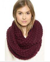 scarf,maroon snood,maroon neck warmer,maroon scarf,chunky knit snood,chunky knit neck warmer,chunky knit scarf,www.ustrendy.com