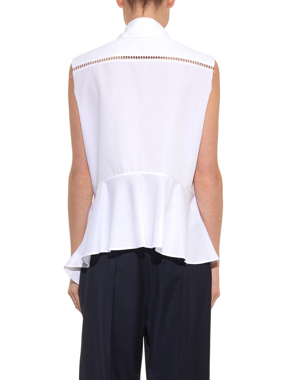 Lane asymmetric cotton shirt